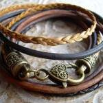 Womens Leather Bracelet, F..