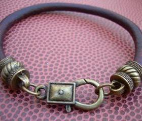 Mens, Womens, Unisex, Leather Bracelet, Antique Bronze/ Antique Brown
