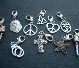 Lobster Clasp Charms, 3 for 11.99 , Pendants, Assorted Three Pieces
