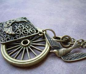 Steampunk Necklace and Pendant Charms of Antique Bronze - Urban Survival Gear USA ABNASST